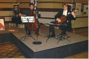 With Cellist Hikaru Tamaki in 1996