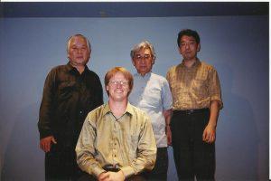 After my first concert in Tokyo. Behind me is Yasuhiko Tsukamoto, Masao Homma, and Hirokazu Sato.